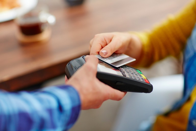 A contactless payment.